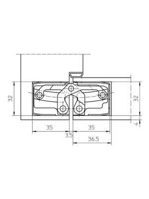 Zawias do drzwi wewnętrznych TECTUS TE 540 3D kolor F2/nikiel mat