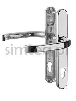 Klamka drzwiowa greenteQ DG58 na szyldzie PZ