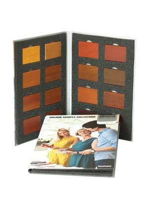 Próbnik kolorów na drewnie meranti - kolornik Sikkens