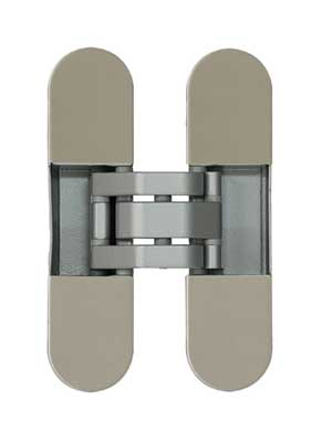Zawias do drzwi INVISACTA 300 3D z nasadkami F2/nikiel mat