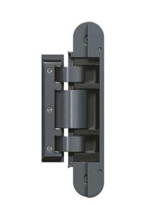 Zawias do drzwi szklanych Tectus TEG310 2D 60 - szary mat