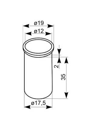 Tuleja rygla nr 8028 ocynk srebrny