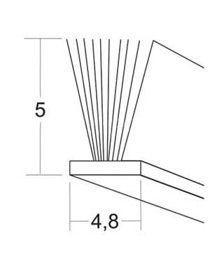 Uszczelka szczotkowa PB048