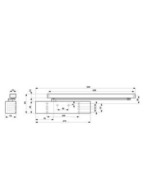 Samozamykacz drzwiowy TS93 G bez szyny EN 2-5