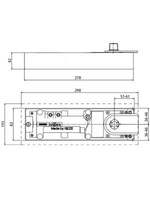 Samozamykacz podłogowy TS 500 N EN3