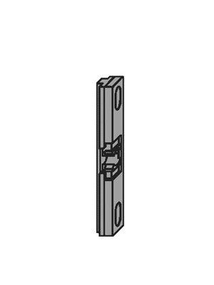 Zatrzask balkonowy do okien PCV A2041, ocynk srebrny