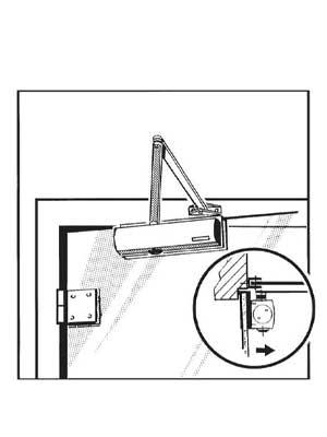 Klema zaciskowa samozamykacza TS2000 do montażu na szkle