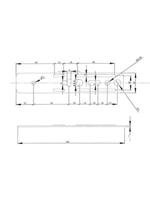Kotwa K-19 do montażu okien PVC - rozstaw 49,7 mm