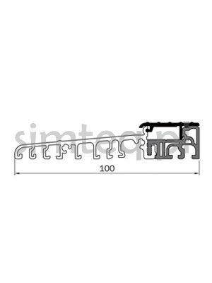 Próg drzwiowy EIFEL 100 T czarny