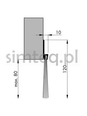 Uszczelnienie szczotkowe IBS 120 POG 2000 mm