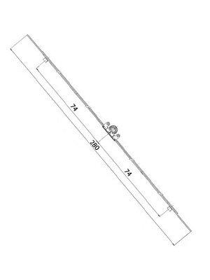 Zasuwnica okna rozwiernego L-280 mm zakres 280-400 mm