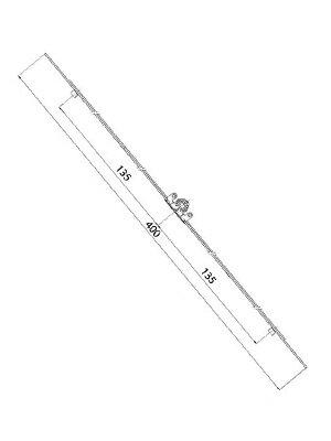 Zasuwnica okna rozwiernego L-400 mm zakres 400-600 mm