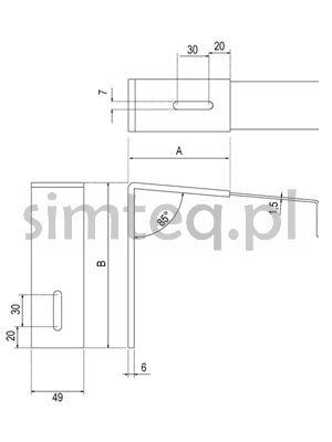 Wspornik parapetów zewnętrznych 40/200 mm greenteQ