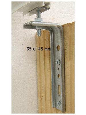 Konsola dolna kątowa FMW 65x145x2,5 - W40M8 z łącznikiem kątowym