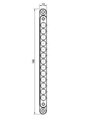 Zamek magnetyczny KCM 50 do drzwi szklanych - stal szlachetna