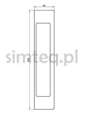 Uchwyt KC170 do drzwi szklanych, samoprzylepny - szary