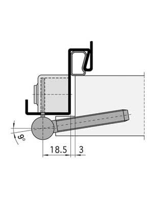 Zawias do drzwi wewnętrznych VARIANT V 8000 WF - część ramowa