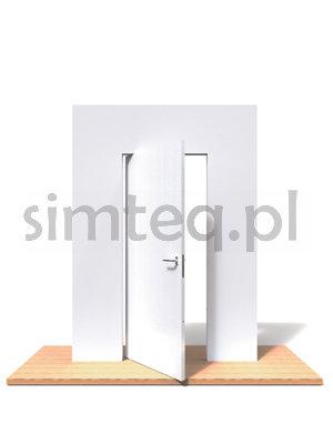 PIVOTICA Zawias wpuszczany góra/dół do drzwi bezprzylgowych - 60 kg