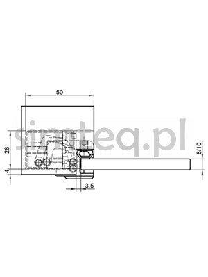 Zawias do drzwi szklanych Tectus TEG310 2D 60 - biały/RAL9016