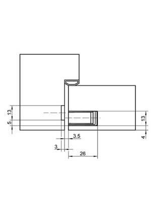 Zamek magnetyczny KC 50 do drzwi szklanych - stal szlachetna